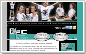 Epic Cheer & Dance Option Cart Template