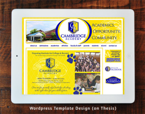 Cambridge Academy WordPress Template Design