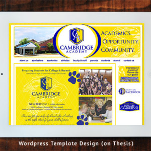 Cambridge Academy Wordpress Site Template Design on Thesis