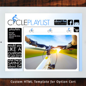 Cycleplaylist.com Option Cart Custom Template