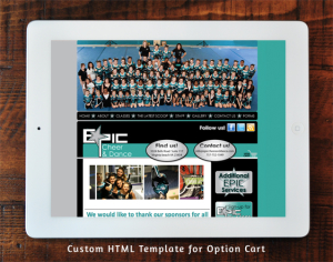 Epic Cheer & Dance Option Cart Custom Template