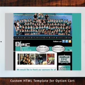 Epic Cheer & Dance Option Cart Custom Template