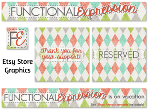 Etsy Store Graphics - Functional Expression