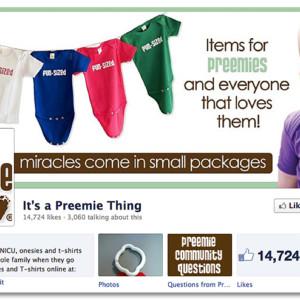Facebook Design - It's a Preemie Thing
