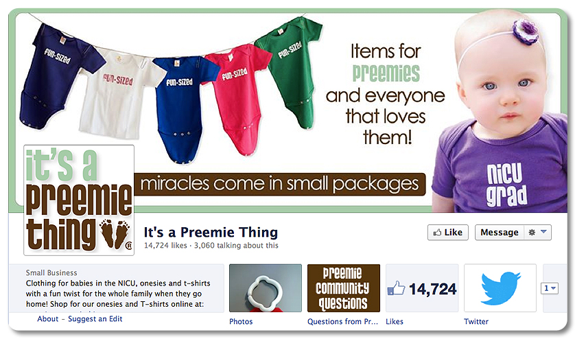 Facebook Design - It's a Preemie Thing