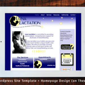 Luna Lactation Wordpress Site Template Design on Thesis