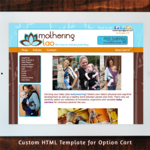 Mothering Tao Option Cart Custom Template