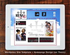 Renu-U Fitness WordPress Template + Homepage Design (on Thesis)