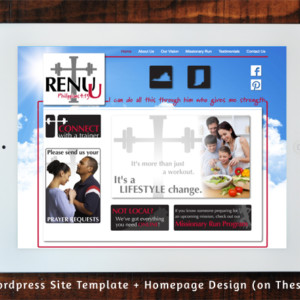 Renu-U Fitness Wordpress Template + Homepage Design (on Thesis)