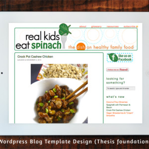 Real Kids Eat Spinach (Wordpress Template)