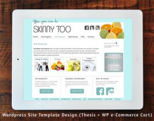 Skinnytoo.com WordPress Site Template Design