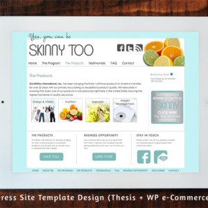 Skinnytoo.com Wordpress Site Template Design