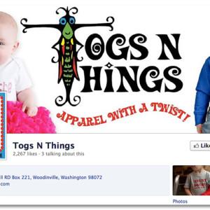 Facebook Design - Togs 'n Things