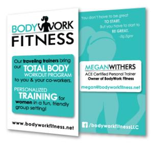 BodyWork Fitness Business Cards