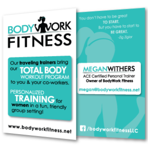BodyWork Fitness Business Card Design
