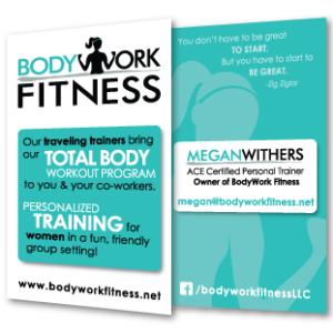 BodyWork Fitness Business Card Design