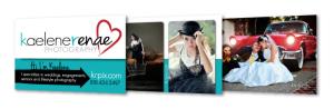 Kaelene Renae Photography Business Cards, multiple back designs
