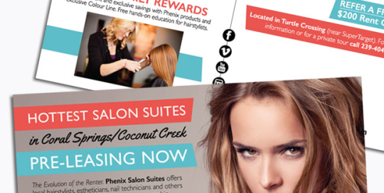 Phenix Salon Suites Postcard Mailer