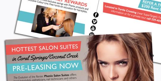 Phenix Salon Suites Postcard Mailer