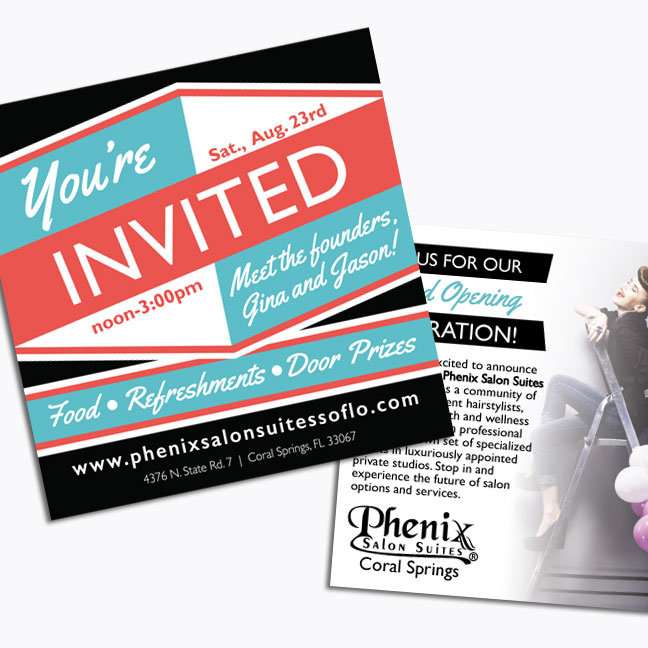 Phenix Salon Suites Event Invitation