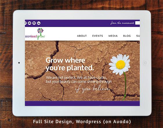 Envision Lead Grow Full Site Design on Wordpress/Avada