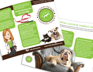 Connect with a Wish Trifold Brochure Design