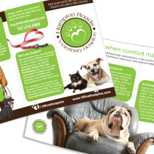 Hampton Roads Veterinary Hospice Trifold Brochure Design