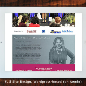 Angela Reddix - Full Site Design Wordpress/Avada