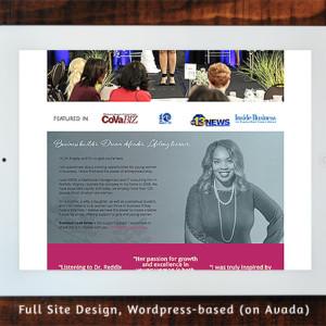 Angela Reddix - Full Site Design Wordpress/Avada