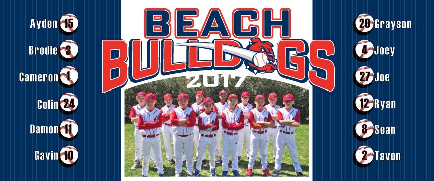 Baseball Team Large Vinyl Banner Design, Cooperstown Banner Design