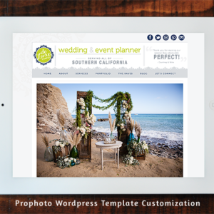 Deluxe Weddings and Events - Prophoto Wordpress Template Customization