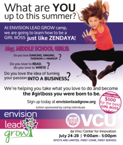 Envision Lead Grow Summer Camp Flyer