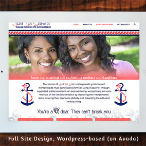 Just Us Sisters - Full Site Design Wordpress/Avada