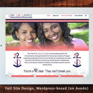 Just Us Sisters - Full Site Design Wordpress/Avada