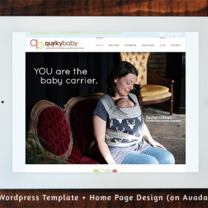 QuirkyBaby - Wordpress Template and Home Page Design (Avada-based)
