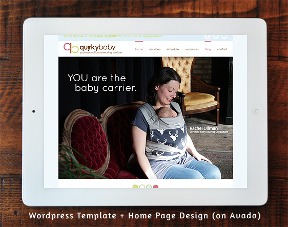QuirkyBaby - Wordpress Template and Home Page Design (Avada)