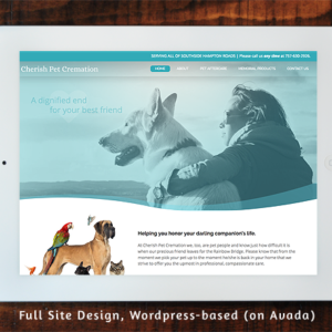 Cherish Pet Cremation - Full Site Design Wordpress/Avada
