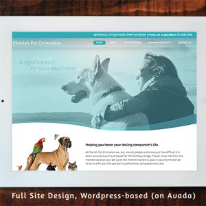 Cherish Pet Cremation - Full Site Design Wordpress/Avada