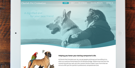 Cherish Pet Creation - Full Site Design, Wordpress-based