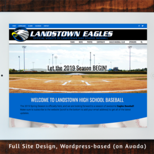 Landstown High School Baseball - Full Site Design Wordpress/Avada